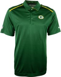 Nike Mens Green Bay Packers Dri-fit Polo - Lyst