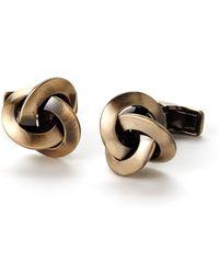 Ravi Ratan - Gold-Tone Knotted Cuff Links - Lyst