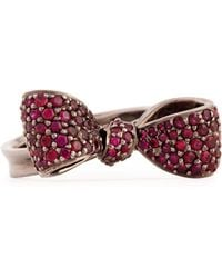 Mimi So - Bow Small 18K Gold Ruby Ring - Lyst