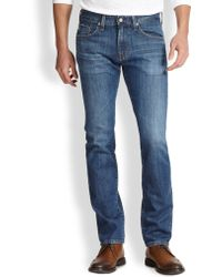 AG Adriano Goldschmied Matchbox Slim Straight-Leg Jeans - Lyst