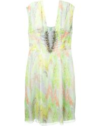 Matthew Williamson Ikat-Print Embellished Dress - Lyst