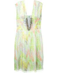 Matthew Williamson Ikat-Print Embellished Dress - Lyst