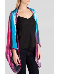 Ted Baker Rega Road To Nowhere Silk Cape Scarf - Lyst