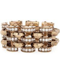 Lulu Frost Veratrum Crystal Link Bracelet - Metallic