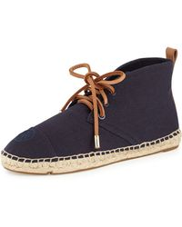 Tory Burch Lace-Up Espadrille Boot - Lyst