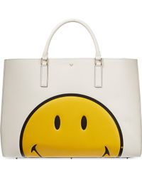 Anya Hindmarch Ebury Maxiweight Smiley Tote - Lyst