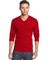 Alfani - Big And Tall Solid V-neck Sweater - Lyst