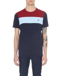 Fred Perry Contrast-Panels T-Shirt - For Men - Lyst