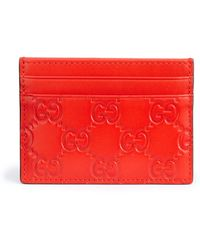 Gucci | Gg Leather Card Case | Lyst