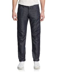 G-Star RAW Biker Patch Tapered Jeans - Lyst