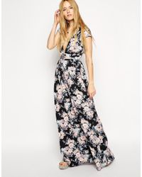 Asos Tall Exclusive Floral Maxi With Wrap Front - Lyst