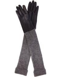Karen Millen - Knitted Sleeve Glove - Lyst
