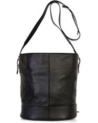 Balenciaga Papier Drop Leather Bucket Bag - Lyst