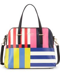 Kate Spade | Cedar Street Flag Stripes Maise Satchel Bag | Lyst