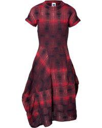 M Missoni Plaid Knit Dress - Lyst