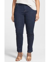 Eileen Fisher Slim Ankle Jeans - Lyst
