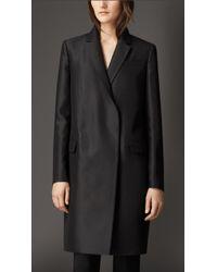 Burberry Oversize Wool Silk Blazer Coat - Lyst