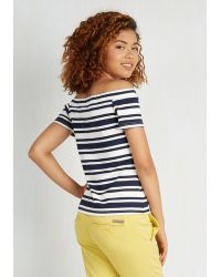 Sunny Girl Pty Lltd - Countless Compliments Top In Navy - Lyst