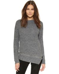 StyleStalker - Immortals Zipper Knit Jumper - Pewter - Lyst