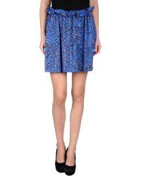 See By Chloé Blue Mini Skirt - Lyst