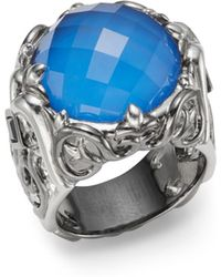Stephen Webster Natural Agate Iolite  Sterling Silver Ring - Lyst