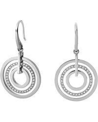 Michael Kors Pavé Disc Earrings - Lyst