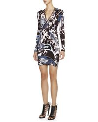 Emilio Pucci Appaloosa-print Long-sleeve Dress with Chain Detail - Lyst