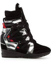 DSquared2 Black Hi-top Sneakers - Lyst