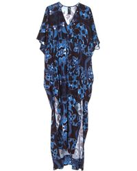 Zero + Maria Cornejo Venetian Blue Long Elie Dress blue - Lyst