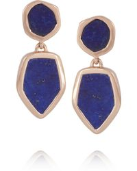 Monica Vinader - Atlantis Rose Goldplated Lapis Lazuli Earrings - Lyst