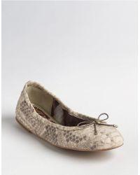 Sam Edelman Felicia Leather Ballet Flats - Lyst
