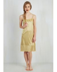 O2 Collection - Foundation Fascination Full Slip In Gold - Lyst