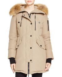 BCBGMAXAZRIA Fur-trimmed Hood Anorak - Natural