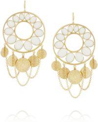 Isharya - Hasina Enameled Gold-Plated Earrings - Lyst