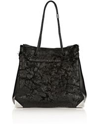 Alexander Wang Prisma Tote Large in Wet Black with Rhodium - Lyst