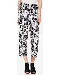 Vince Camuto 'Tropical' Print Crop Pants white - Lyst
