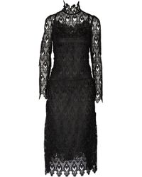 Dolce & Gabbana Lace And Tulle Midi Dress - Lyst