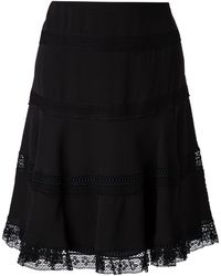 Nina Ricci Embroidery Details Flared Skirt - Lyst
