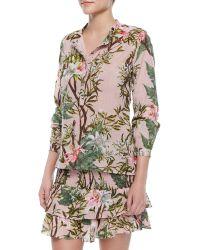Etoile Isabel Marant Wescott Floral-Print Henley Blouse - Lyst