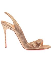 Christian Louboutin Space Noeud 100mm Sandals - Lyst