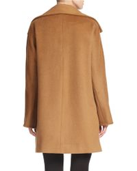 Ellen Tracy Petite Single-breasted Wool-blend Coat - Brown