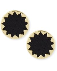 House Of Harlow Sunburst Snake-embossed Leather-inlay Earrings - Lyst