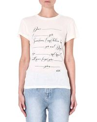 Wildfox Love Letter Jersey Tshirt Vintage Lace - Lyst