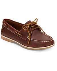 Clarks Jetto Leather Boat Shoesbrown - Lyst