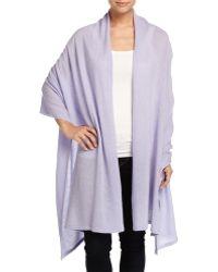 Minnie Rose - Cashmere Blanket Wrap - Lyst