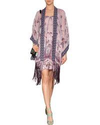 Anna Sui Silk Blend Sparrows Dress - Lyst