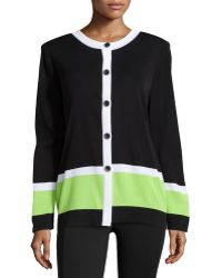 Misook Knit Button-front Cardigan - Lyst