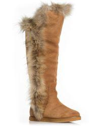 Koolaburra Sasha Ii Boots With Fur Trim - Chestnut brown - Lyst