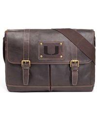 Jack Mason Brand - 'gridiron - Miami Hurricanes' Leather Messenger Bag - Lyst