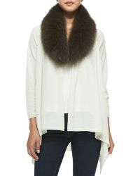 Alice + Olivia Cashmere-Blend Izzy Open-Front Cardigan - Lyst
